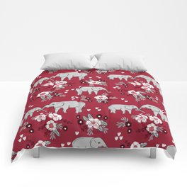 Alabama university crimson tide elephant pattern college sports alumni gifts Comforters