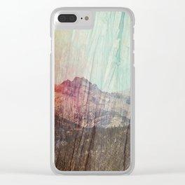 cedars sky Clear iPhone Case