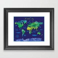 Nautical Map Framed Art Print