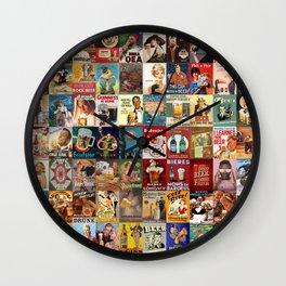 Vintage Beer Ads Wall Clock