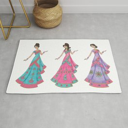 Indian Women Dancing Rug