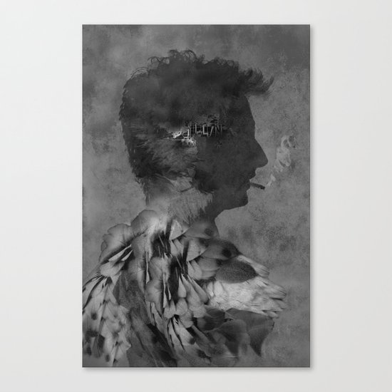 A tribute to Alain Bashung Canvas Print