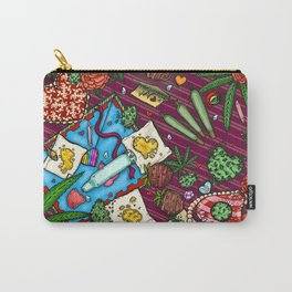 Hearts and Flowers (Cannabis Altar IV) Carry-All Pouch
