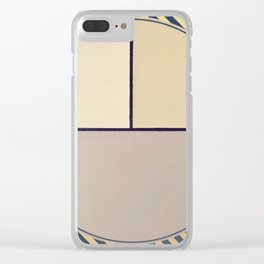 Toned Down- navy stripe Clear iPhone Case