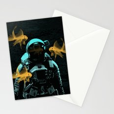 astronauts and goldfish Stationery Cards