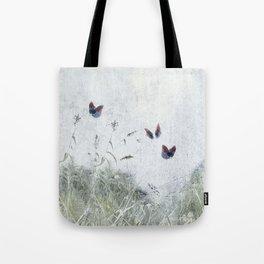 A Spell for Creation - butterflies amongst grass Tote Bag