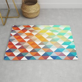 color pattern, triangle shape rainbow colors  Rug