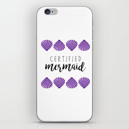 Certified Mermaid iPhone Skin