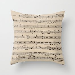 Mozart - String Quartet No. 1 - Sheet Music Throw Pillow