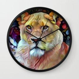 Mama Lion Wall Clock