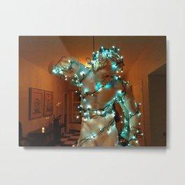 Pan in Christmas Lights Metal Print