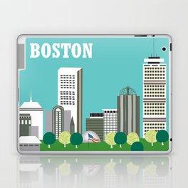 Boston, Massachusetts - Skyline Illustration by Loose Petals Laptop & iPad Skin