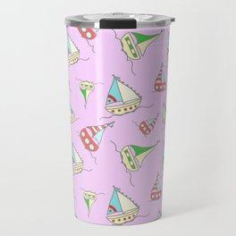 bote agua rosa Travel Mug