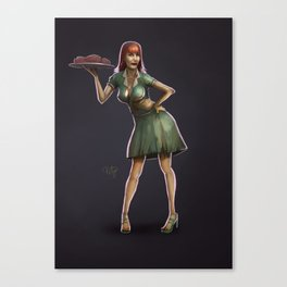 Zombie Pinup Canvas Print
