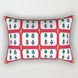 Flag of montreal -montrealais,montrealer,montreales,quebec, canada. Rectangular Pillow