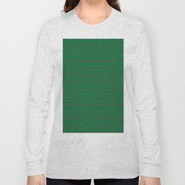 Green Wall Red Line Long Sleeve T-shirt