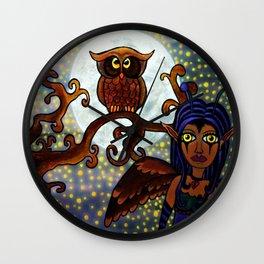 Nyx Of The Night Wall Clock