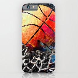 Basketball art print 122 - basketball artwork for bedroom -basketball poster iPhone Case