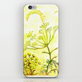 Tansy and Great mullein iPhone Skin