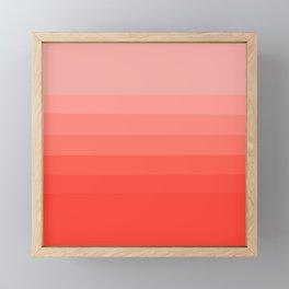 Living Coral Light to Bright Gradient Framed Mini Art Print