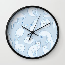 Arctic Pattern Wall Clock