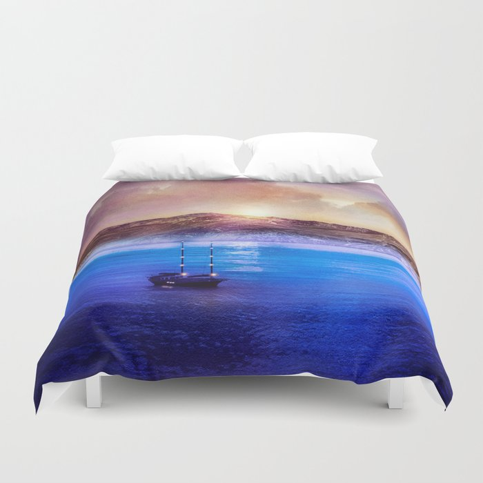 Blue/purple, trip. Duvet Cover