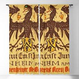 Vintage 1937 Riesling Wine Bottle Label Weingut Ernst Jungkenn Blackout Curtain
