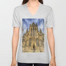 York Minster Cathedral Unisex V-Neck