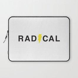 Radical - Black on White Laptop Sleeve
