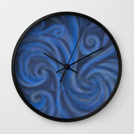 Blue Swirl Wall Clock
