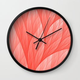 Reef Coral Living Color of the Year 2019 Abstract Pattern Fractal Fine Art Wall Clock