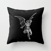satan Throw Pillows featuring Satan by TheMessianicManic