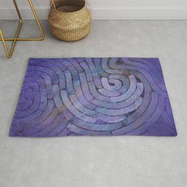 'Careful Where You Stand, In Violet' Rug