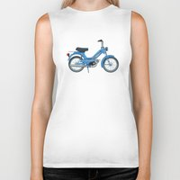 motorbike Biker Tanks featuring Motorbike Automatic 3 MS - Tomos by Jus Project