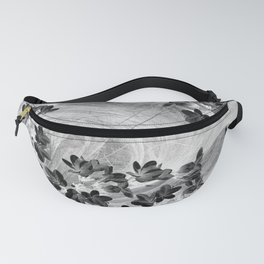 Midnight flowers blowing in the wind Fanny Pack
