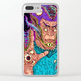 Monster Alien Clear iPhone Case