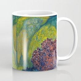 Floral Garden Landscape with Waterfall by Franz von Stuck Coffee Mug