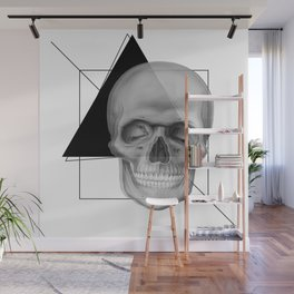 Skull and Geometry Wall Mural
