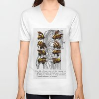 bees V-neck T-shirts featuring bees by Ashley Moye