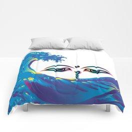 Hokusai Rainbow & Eyes of God of India Comforters