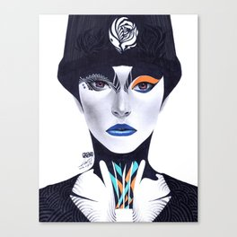 Blue Lip - Minjae Lee - Grenomj Canvas Print