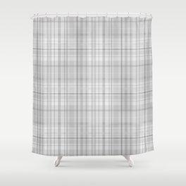 Light Grey Plaid Shower Curtain