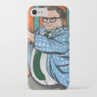 snl iPhone & iPod Cases featuring SNL Chris Farley as Matt Foley by Portraits on the Periphery