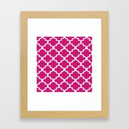 Arabesque Architecture Pattern In Dull Pink Framed Art Print