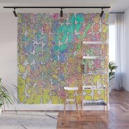 Pastel Abstract Blocks Wall Mural