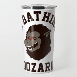 A Bathing Oozaru Travel Mug