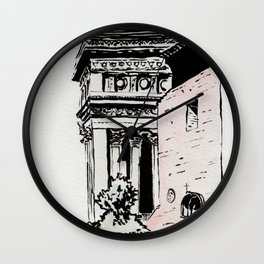 The lovers of the Capitoline Hill - Rome Wall Clock
