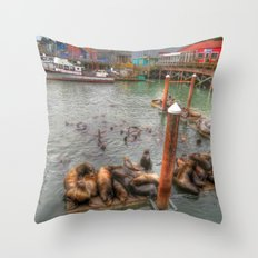 The Sea Lion Spot Throw Pillow