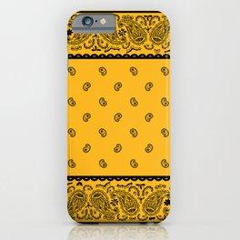Gold and Black Bandana iPhone Case