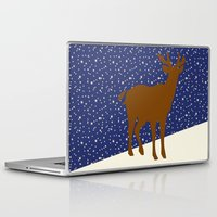 reindeer Laptop & iPad Skins featuring Reindeer by Mr and Mrs Quirynen